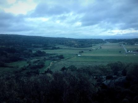 Utsikt från sockertoppen, mot västerhavet.